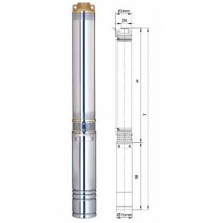 Насос для скважины Aquatica 777151 0.75 кВт h=45 м 10.8 м.куб/час