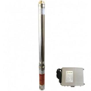 """Скважинный насос Optima 2,5""""(66мм) 2,5SDm1,5/33 0,55кВт+пульт+кабель 15м с повышенной стойкостью к песку"""