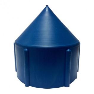 Пластикова заглушка для обсадної труби з різьбленням 125 мм