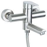 Смеситель для ванны Aquatica HT-2C171P HT д.35 SS гусак прямой 100мм дивертор встроенный картриджный