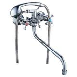 """Смеситель для ванны Tau VN-5C460C VN 1/2"""" гусак изогнутый дивертор встроенный шаровый"""
