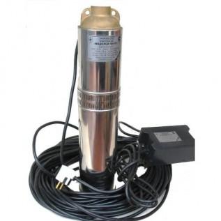 Бытовой глубиный насос Водолей БЦПЭ 0,5-063У 1,8-3,6 м.куб/ч h=63 м д.105мм(кабель 40 м)